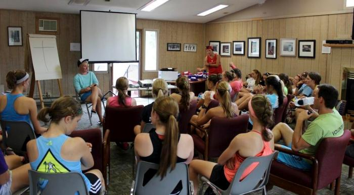 Fast and Female session on being an awesome teammate. not even sure what I'm doing here