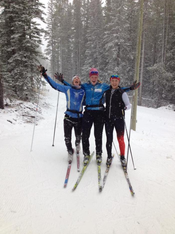 more serious training with my new biathlon pals