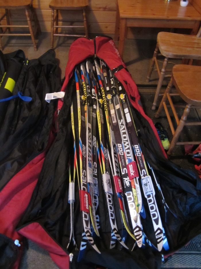 Most of my race skis for this winter.