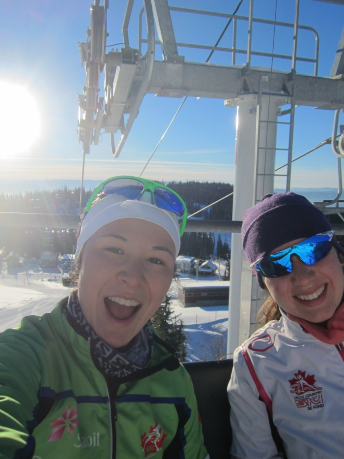 Me and Holly on the chairlift