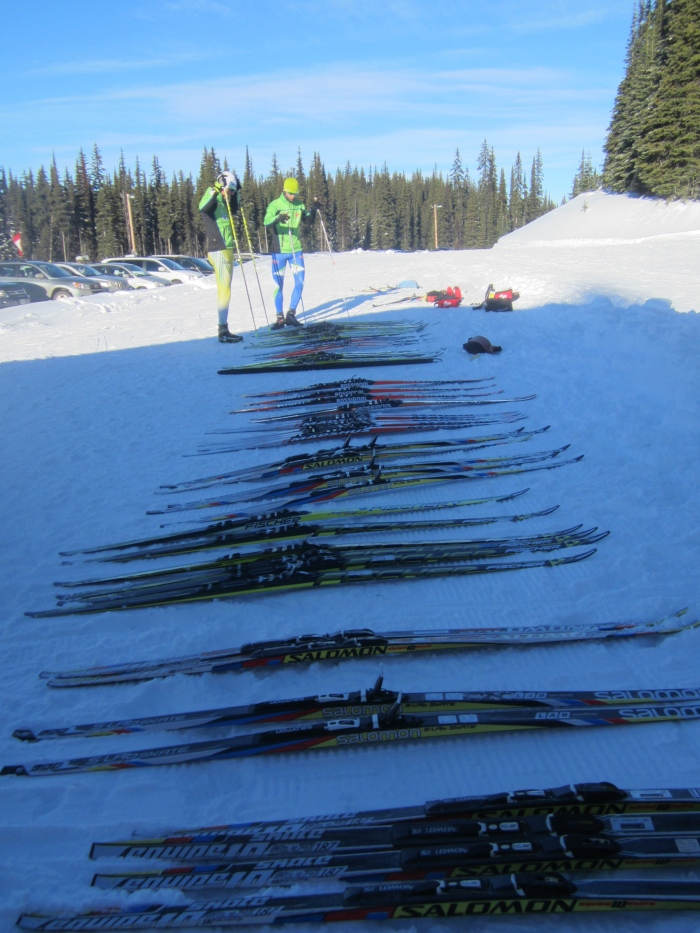 Skate skis out for testing