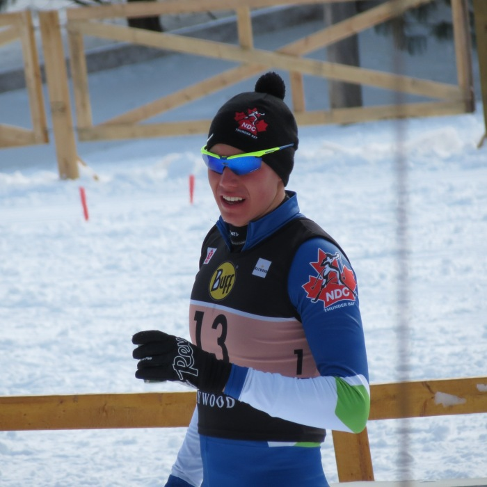 Sammy post-race