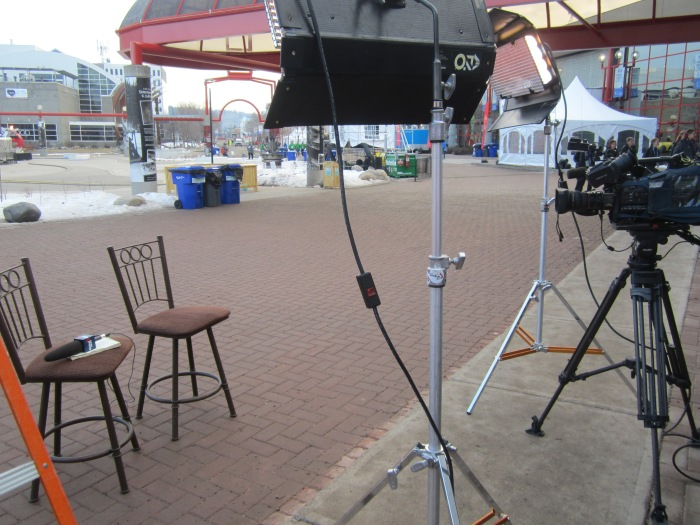 Interview set, I think