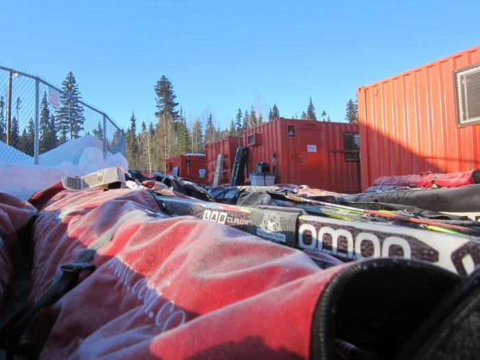 Frosty ski bags