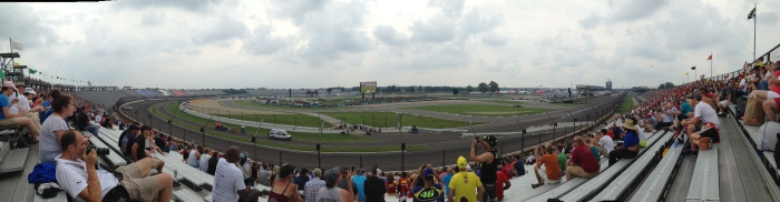 Pano from the stands on race day